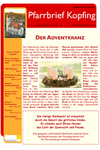 Pfarrbrief Advent Weihnachten 2016